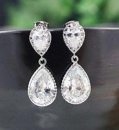 Something Blue Wedding Jewelry Bridal Jewelry por earringsnation