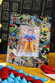Superhero themed birthday party via Kara's Party Ideas KarasPartyIdeas.com Cake, printables, desserts, supplies, tutorials, and more! #superheroparty #superherocake #superhero #superheropartyideas (6)
