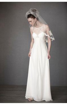 Chiffon Mit Bowknot Pinsel Schleppe U Ausschnitt Hochzeitskleider 2013