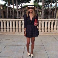 WEARING: TULAROSA payton dress (new fave brand!) | MARYSIA SWIM swimsuit underneath | CHANEL espadrilles | ANTIK BATIK clutch |