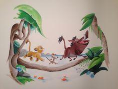 Lion king muurschildering