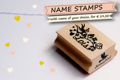 Personalized Name stamp  With a name of your by MissHoneyBird, €29.50
