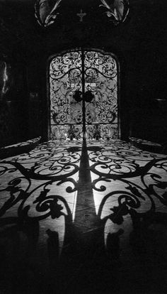 Light thru ornate gates