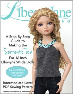 Sorrento Top for Ellowyne Dolls