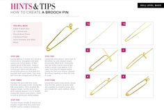Jewellery Making for Beginners - Learn how to create a Brooch Pin in 6 easy steps.  Also known as Fibulas.  #Wire #Jewelry #Tutorials