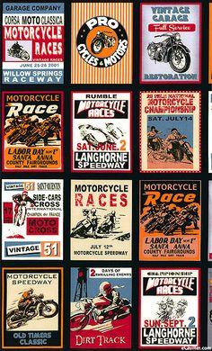 Retro Rider - Moto-Cross Classica - Black - 24