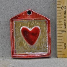 Heart Plaque Bead or Pendant by oscarcrow on Etsy