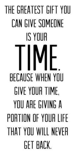 Share your time
