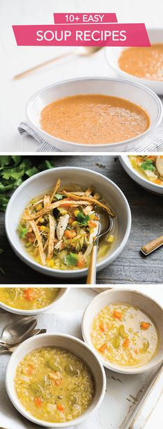 Stay warm this winter with the taste of over ten soup recipes. Whether it's Simple Pumpkin Soup or Chicken & Tortilla Soup, with such a variety of quick and easy recipes, you are sure to find a delicious taste that will satisfy your cravings. Click on the link to explore all of these amazing options.