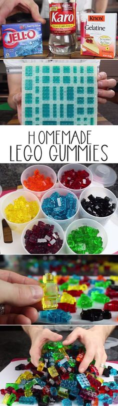 How to make homemade lego gummies