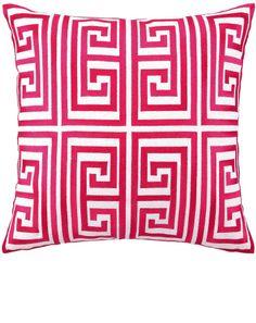 Modern Pink Embroidery Fashion Throw Pillows & Cushions