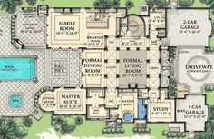 Mediterranean homes – Mediterranean Home Decor House Plans Mansion, Luxury House Plans, Dream House Plans, House Floor Plans, Luxury Houses, The Plan, How To Plan, Architectural Design House Plans, Architecture Design