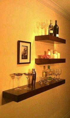 Liquor BarLiquor StoreBar ShelvesFloating ShelvesMan ApartmentMartini BarBasement  BarsBar CabinetsHome Bars