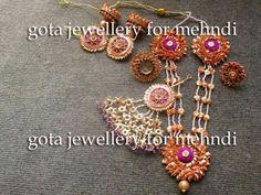 Gota patti jwellery India Jewelry, Handmade Jewellery, Ethnic Jewelry, Gold Jewelry, Gota Patti Jewellery, Mehendi, Diwali, Wedding Jewelry, Paper Crafts