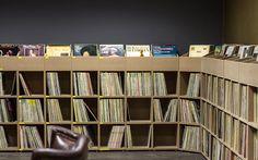 Regalsystem Schallplatten Shop