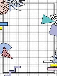 Memphis creative geometric background material Powerpoint Background Templates, Powerpoint Design Templates, Cute Wallpaper Backgrounds, Cute Wallpapers, Colorful Backgrounds, Geometric Background, Background Design Vector, Graphic Design Posters, Graphic Design Inspiration
