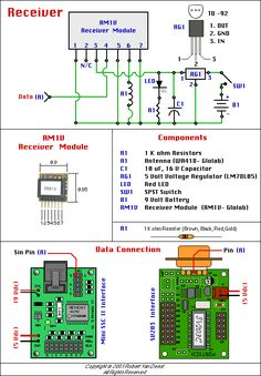 Wireless control receiver schematic