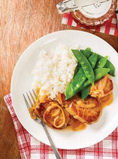 pork tenderloin with maple Pork Recipes, Cooking Recipes, Healthy Recipes, Yummy Recipes, My Favorite Food, Favorite Recipes, Confort Food, Ricardo Recipe, Pork Ham