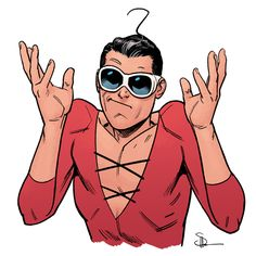 From here on, this is my response to questions about Phantom Girl, when Terrifics comes out, who else will be in it, etc. Comic Book Artists, Comic Books Art, Comic Art, Comic Character, Character Design, Patrick O'brian, Plastic Man, Arte Dc Comics, Fanart