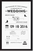 infographic lovebirds Invitations & Announcements