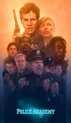 Barret Chapman Police Academy poster design