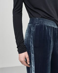 http://www.filippa-k.com/fi/woman/winter-collection/sporty-velvet-pants black and navy together