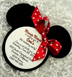 Minnie Mouse Invitations Red Handmade Velvet Die by AdorableTree, $35.00