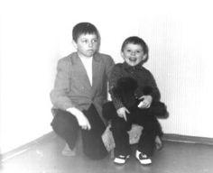 Я и мой младший братишка. 45 лет назад.  I and my younger brother. 45 years ago.