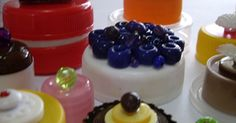'Just Desserts' . 2009. Plastic lids, plastic buttons, plastic beads. Dimensions variable.   Featured in o...