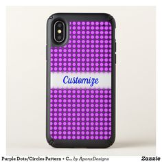 Purple Dots/Circles Pattern + Custom Name Cool Phone Cases, Iphone Case Covers, Circle Pattern, Iphone 11, Circles, Dots, Cool Stuff, Purple, Stitches