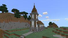 Pequeña Iglesia Medieval Small Medieval Church Minecraft blueprints Minecraft houses Minecraft