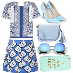How To Wear Blues Outfit Idea 2017 - Fashion Trends Ready To Wear For Plus Size, Curvy Women Over 20, 30, 40, 50