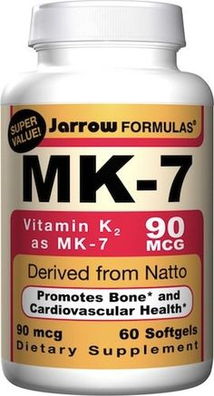 A discussion by Sarah - HealthyHomeEconomist about Vitamin K supplementation - whether MK-7 (natto) or MK-4 (animal) is better. She says all MK-4 supplements are synthetic (my question: is Thorne brand synthetic?) and that it doesn't stay in the system long enough, thus she uses MK-7 (from fermented soy = natto). Great article which I think might add to the studies of calcium deposits / bone loss due to Vit. K2 being necessary for calcium to go to the right places in the human body.