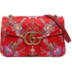 Gucci Women Medium Gg Marmont 2.0 Tokyo Print Bag (10.340 DKK) ❤ liked on Polyvore featuring bags, handbags, bolsas, gucci, purses, red, quilted bag, quilted hand bags, gucci bags and print purse