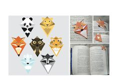 This pdf is 4 pages long, and contain 7 different animal designs for corner bookmarks. It is a guid in the pdf that will tell you how to cut and fold