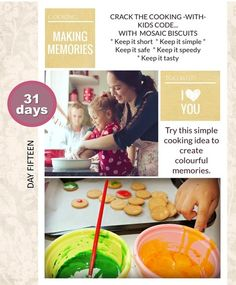 How to create a memorable but simple cooking activity with kids.