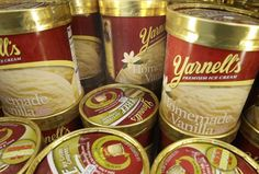 Yarnell's Ice Cream back on store shelves!! Wish they would bring back their Peppermint Ice Cream, and their Strawberry Cheesecake Ice Cream!  YUM!
