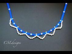 Easy macrame necklace - YouTube