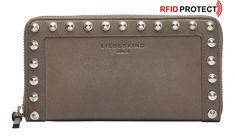 Lederbörse Honey Grey Liebeskind Farrah Studs Sally grau RFID Sally, Studs, Kate Spade, Honey, Chain, Bags, Pocket Wallet, Silver, Leather