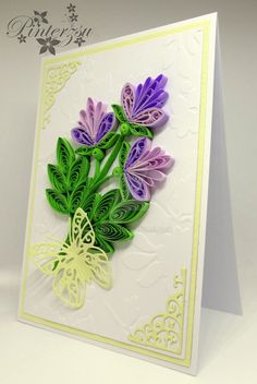 Quilled greeting card by pinterzsu