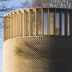 Bishop Edward King Chapel, Ripon Theological College | Cuddesdon, Oxford, England • Niall McLaughlin Architects. Clerestory windows (detail)