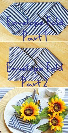 ideas interesantes, cómo doblar una servilleta para la mesa de fiesta