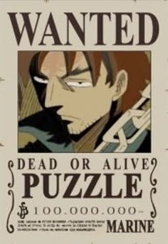 One Piece - Puzzle Wanted Poster