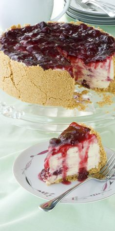 Deliciously creamy and decadent, this Morello Cherry Cheesecake is sublime. desserts classy elegant no-bake easy metric cream cheese european biscuits butter family Cherry Recipes Baking, Cherry Desserts, Sweets Recipes, Just Desserts, Delicious Desserts, Cherry Cheesecakes, Frozen Desserts, Best Cheesecake, Cheesecake Recipes