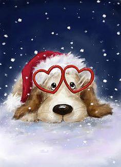 Makiko - Dog With Santa S Hat