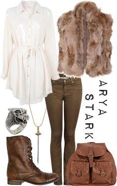 Arya Stark (I like everything except the fur vest. However, I love her character!)
