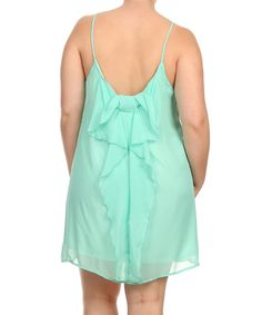 Another great find on #zulily! Mint Back Ribbon Shift Dress - Plus by J-Mode USA Los Angeles #zulilyfinds