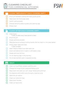 Restaurant cleaning schedule workplace wizards food for Cleaning list for restaurant kitchens