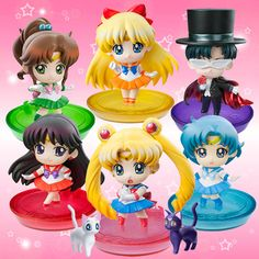 Japanese Petit Chara Sailor Moon Disk Models / Figures! Buy here! http://www.moonkitty.net/buy-bandai-tamashii-nations-sailor-moon-sh-figuruarts-figures-models.php #SailorMoon