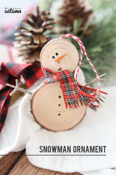 These little DIY snowman ornaments are adorable! Plus they're super easy to make… These little DIY snowman ornaments are adorable! Plus they're super easy to make – they would be fun to make with your Christmas Ornaments You Should Try: Lo Snowman Christmas Ornaments, Christmas Wood, Christmas Crafts For Kids, Christmas Projects, Simple Christmas, Handmade Christmas, Holiday Crafts, Christmas Gifts, Beautiful Christmas